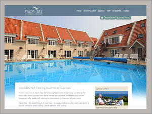 Vazon Bay self catering apartments.